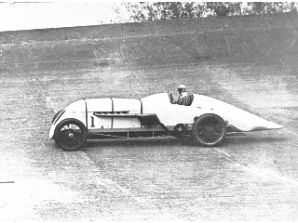 BABS at speed Parry Thomas Brooklands Land Speed photo